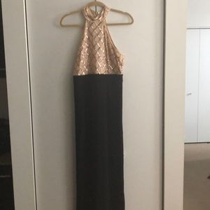 Other - Jumpsuit Black with Gold Sequins